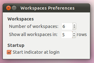 Workspace indicator