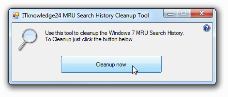 clean windows 7 search history