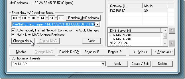 mac address changer 2