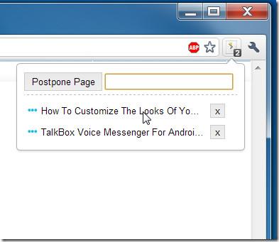 postpone pages