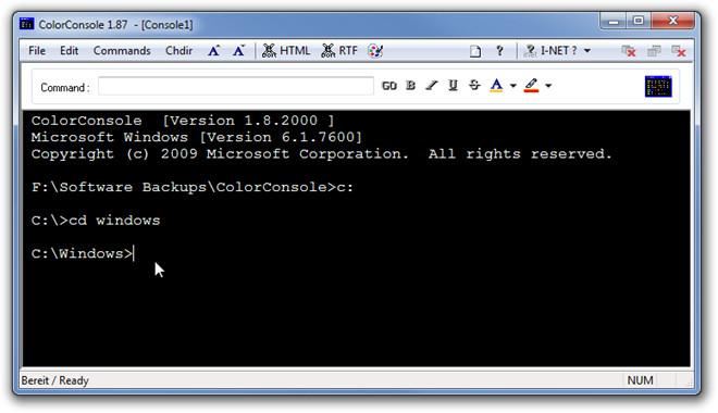 ColorConsole 1.87  - [Console1]