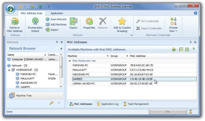 EMCO MAC Address Scannen 1