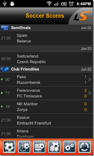 LiveScore-For-Android