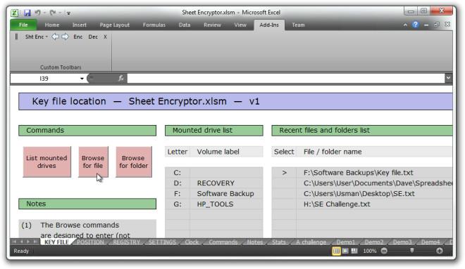 Microsoft Excel - Sheet Encryptor.xlsm