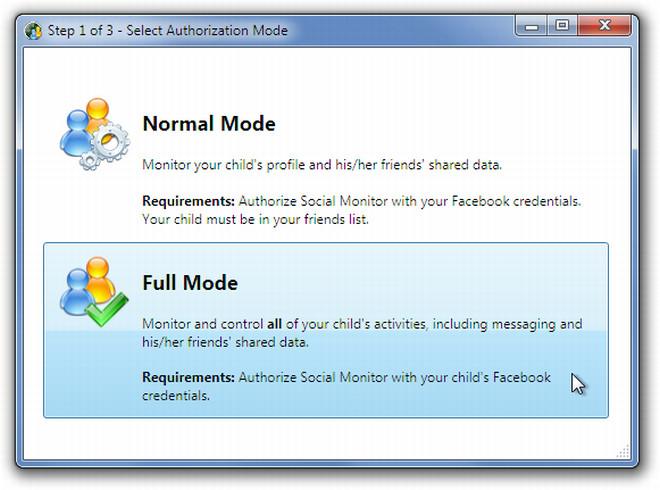 Normal or Full Mode
