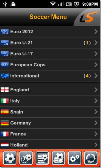 Soccer-menu