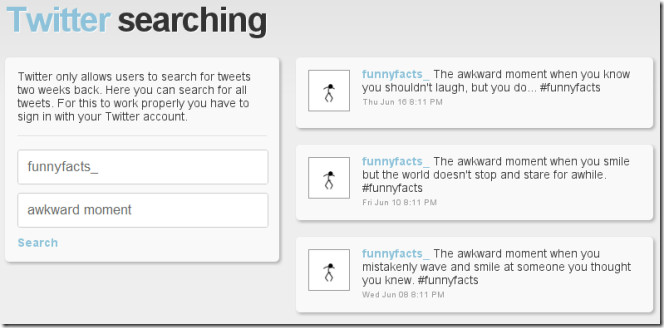 Social Searching Twitter