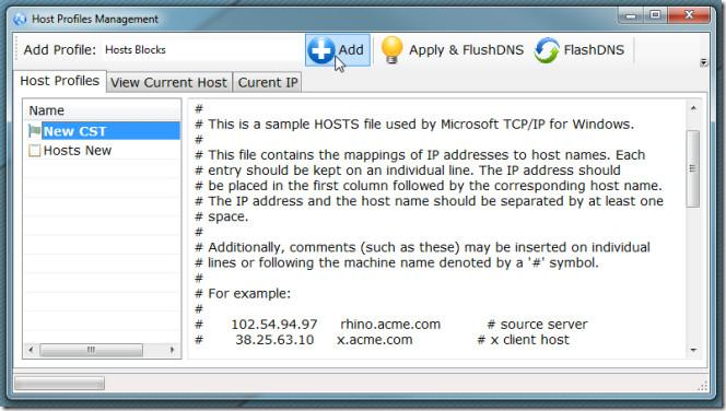 hosts file management