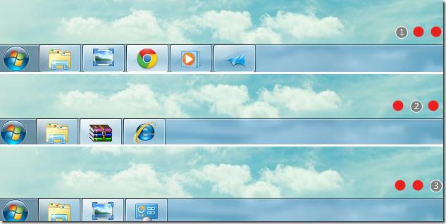 3 Taskbars