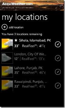 AccuWeather Locations