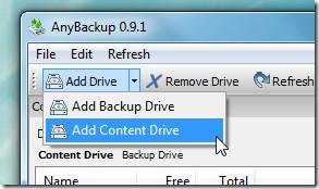 Add Content Drive