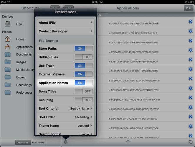 Application-Names-Toggle-Settings