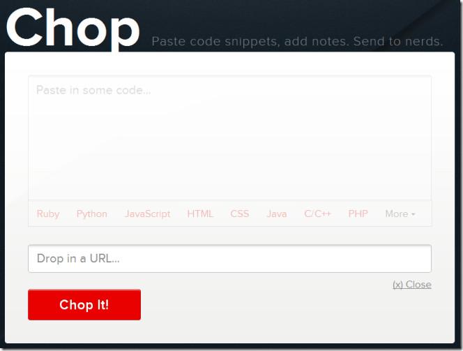 Chop fetch code