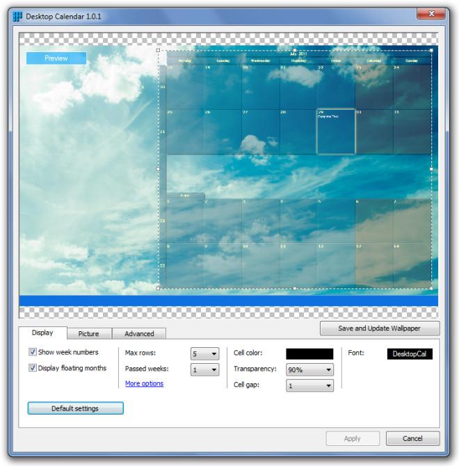 Desktop Calendar 1.0.1