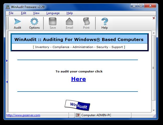 WinAudit Freeware v2.29