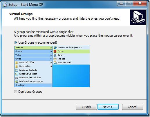XP Start Menu