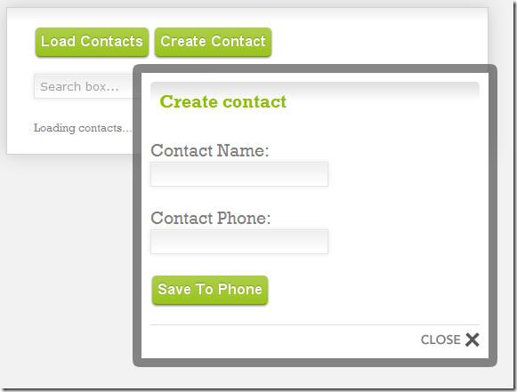 create contact