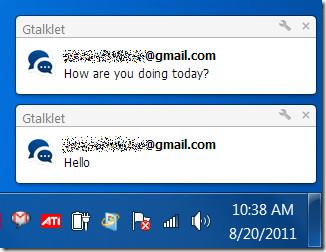 Gtalklet desktop notifications