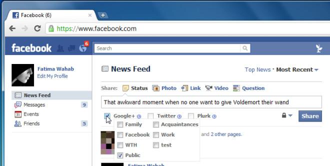 Publish sync for google+ & facebook