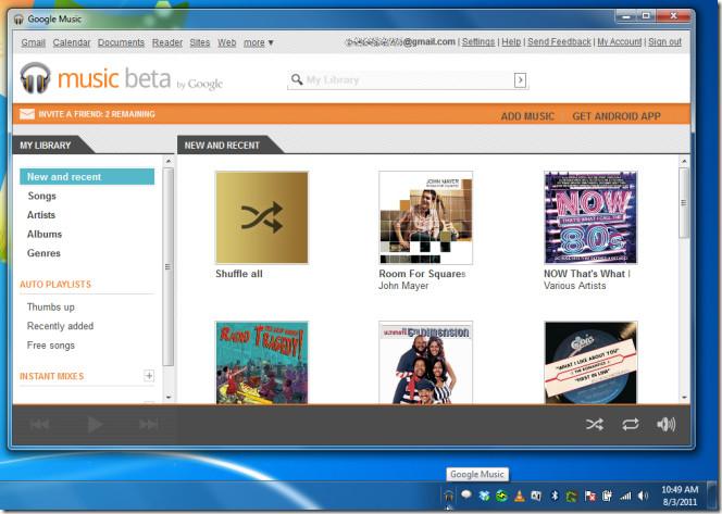google music web 2
