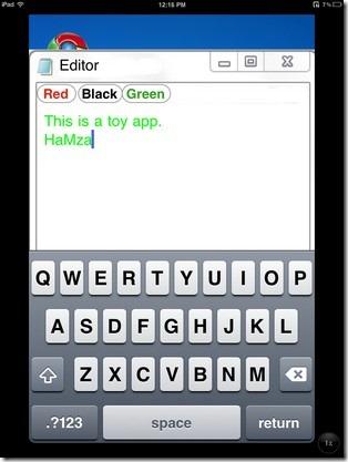 iWindows Notepad