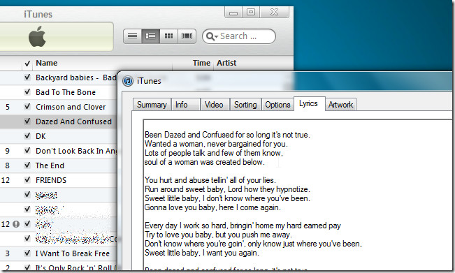 lyrics added