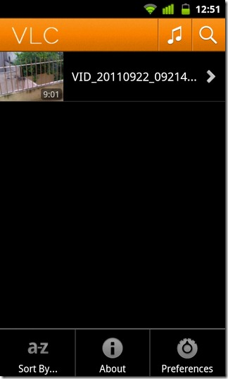 01-VLC Media Player-Android-Pre-Alpha-Video-Home