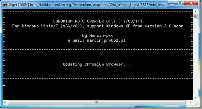 Chromium Auto Updater updating