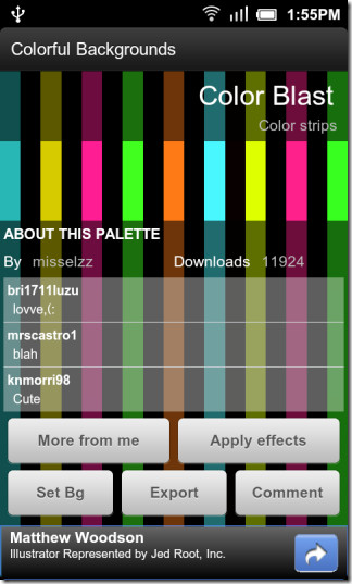 Colourful Backgrounds Android Set