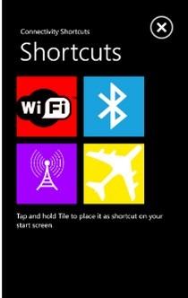 ConnectivityShortcuts