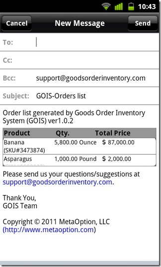 Goods Order Inventory System-07