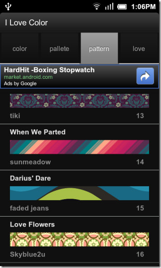I Love Color Android Pattern