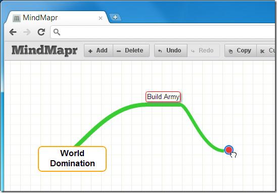 MindMapr add ideas