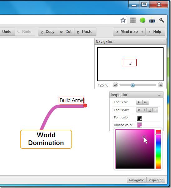 MindMapr navigation