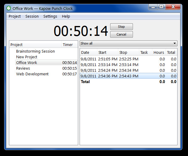 Office Work — Kapow Punch Clock