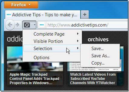 Screenshoter toolbar button