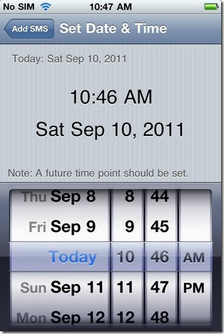 Time & Date Set