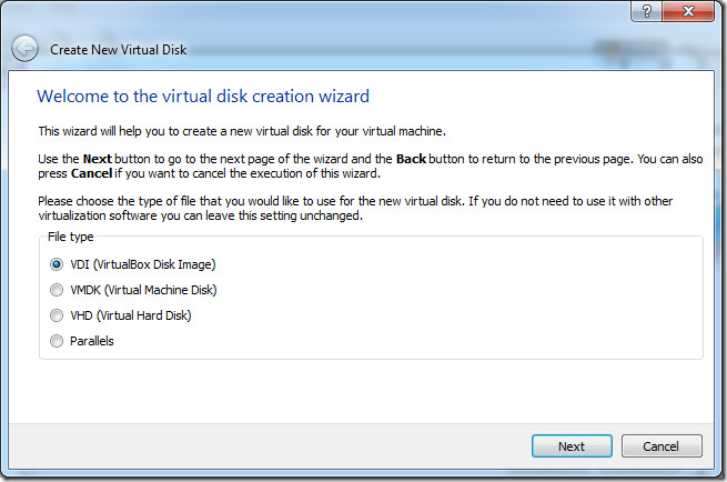 VDI Virtual Box Disk Image