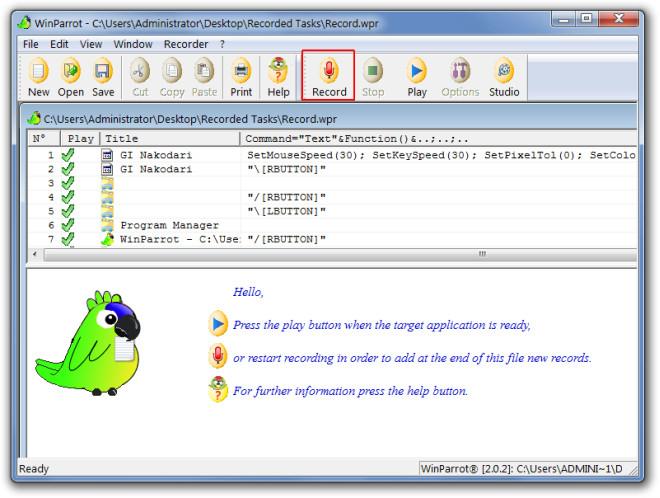 WinParrot - CUsersAdministratorDesktopRecorded TasksRecord.wpr