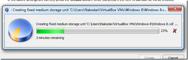 creating fixed medium storage