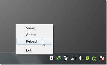 reload menu