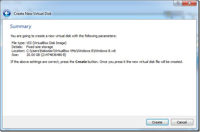 sumary virtual disk