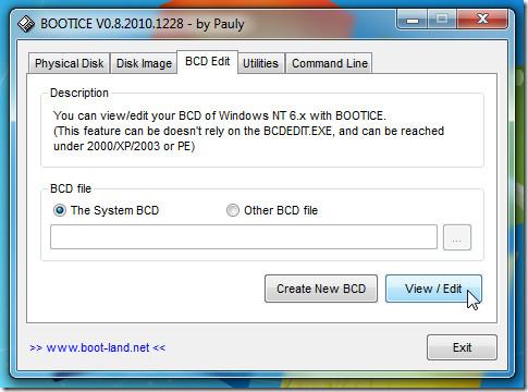 view edit bcd
