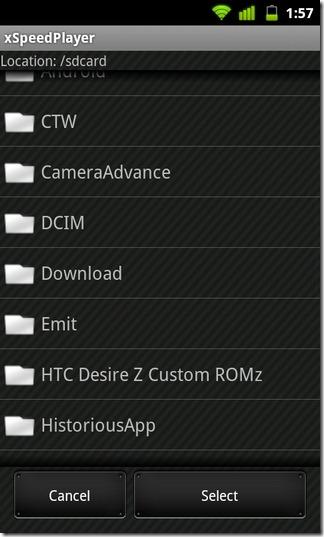 04-xSpeedPlayer-Android-Directories
