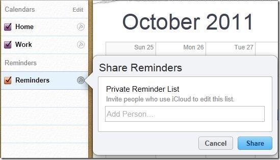 Calendar-share
