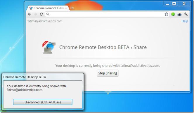 Chrome Remote Desktop BETA connection