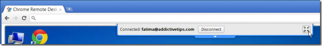 Chrome Remote Desktop BETA full screen