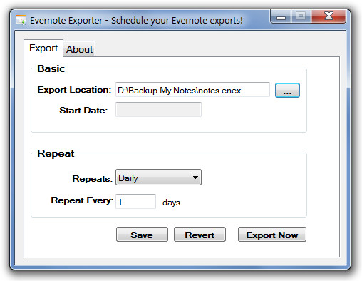 Evernote Exporter - Schedule your Evernote exports!