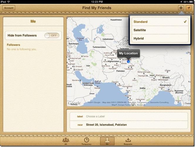 Find My Friends iOS5