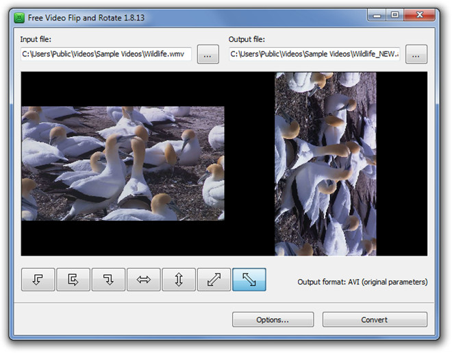 Free Video Flip and Rotate Rotated